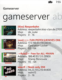 Serverlist on Windows Phone